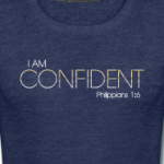 i-am-confident-ladies-blue-t-shirt_design