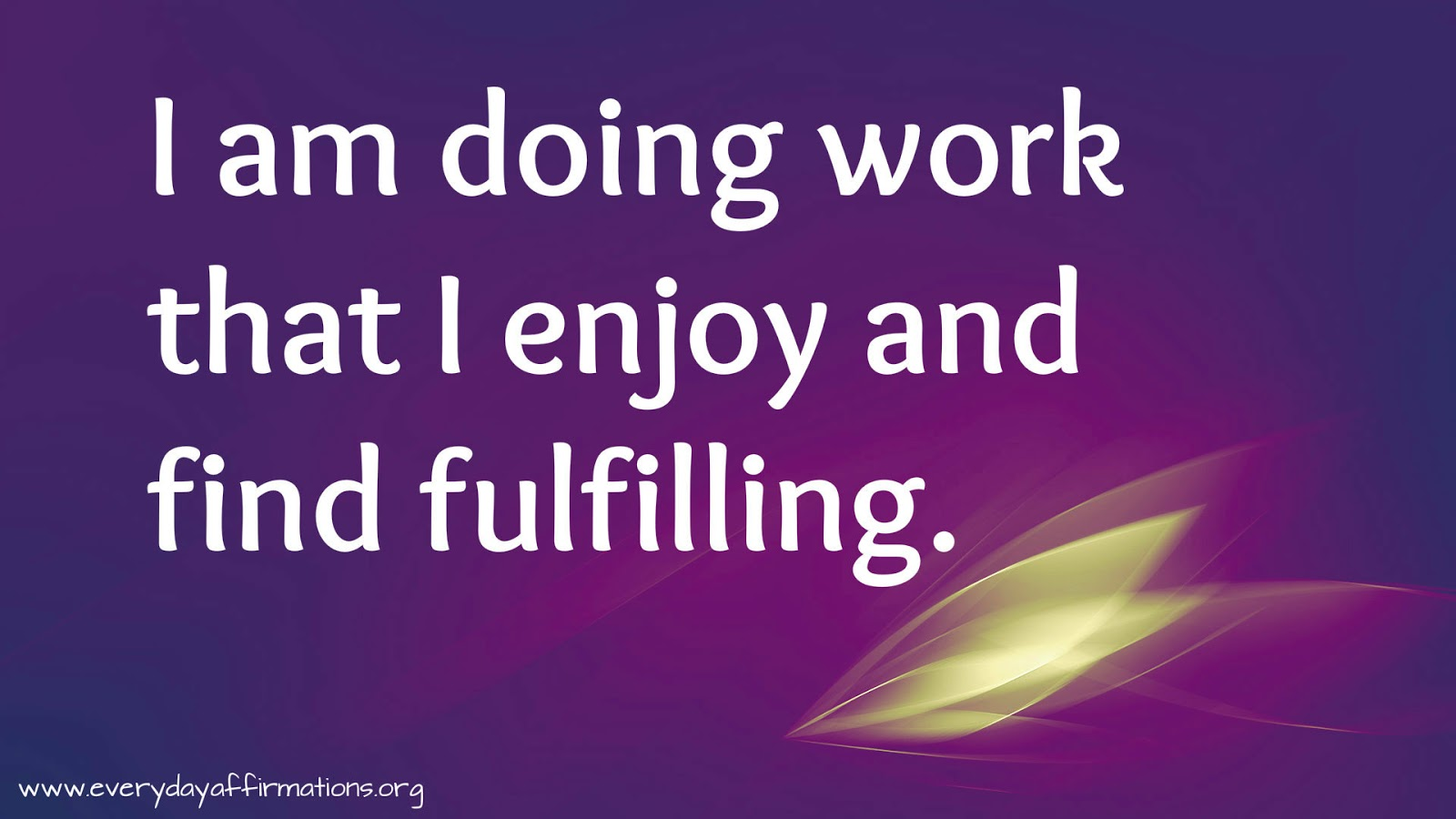 Affirmations When you are at work